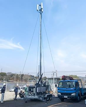 アクアボール(水圧式多目的昇降ポール)の写真